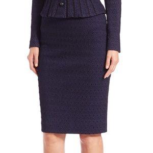 Nanette Lepore Embrace Me pencil skirt blue 6